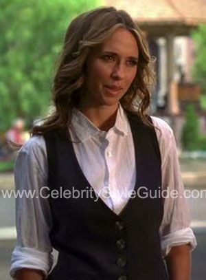 Awesome nice cool Ghost Whisperer Style and Fashion - Trina Turk 'Beatnik' Vest - Celebrity ... Celebrity Style Check more at http://pinfashion.top/pin/81086/
