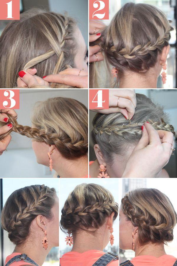Awe Inspiring Hair How To Halo Braid Summer Halo Braid Tutorials And Halo Braid Short Hairstyles Gunalazisus