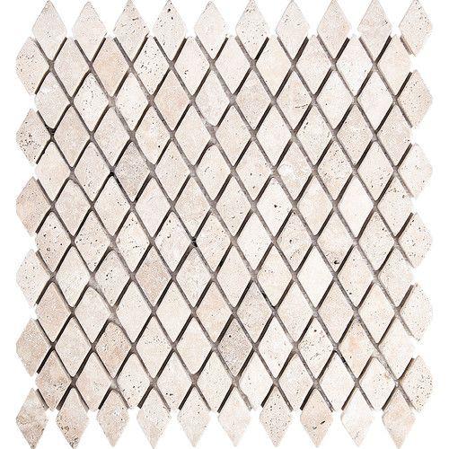 Found It At Wayfair Tumbled Diamond 1 X 1 Stone Mosaic Tile In Ivory Stone Mosaic Tile Mosaic Tiles Tiles