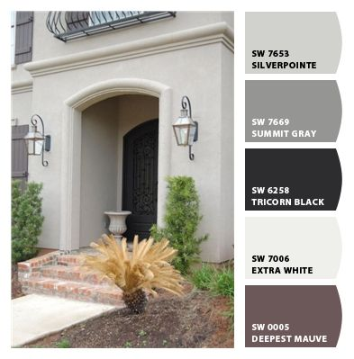 Pin by tonya mclaughlin on house door in 2019 house - Stucco exterior paint color schemes ...