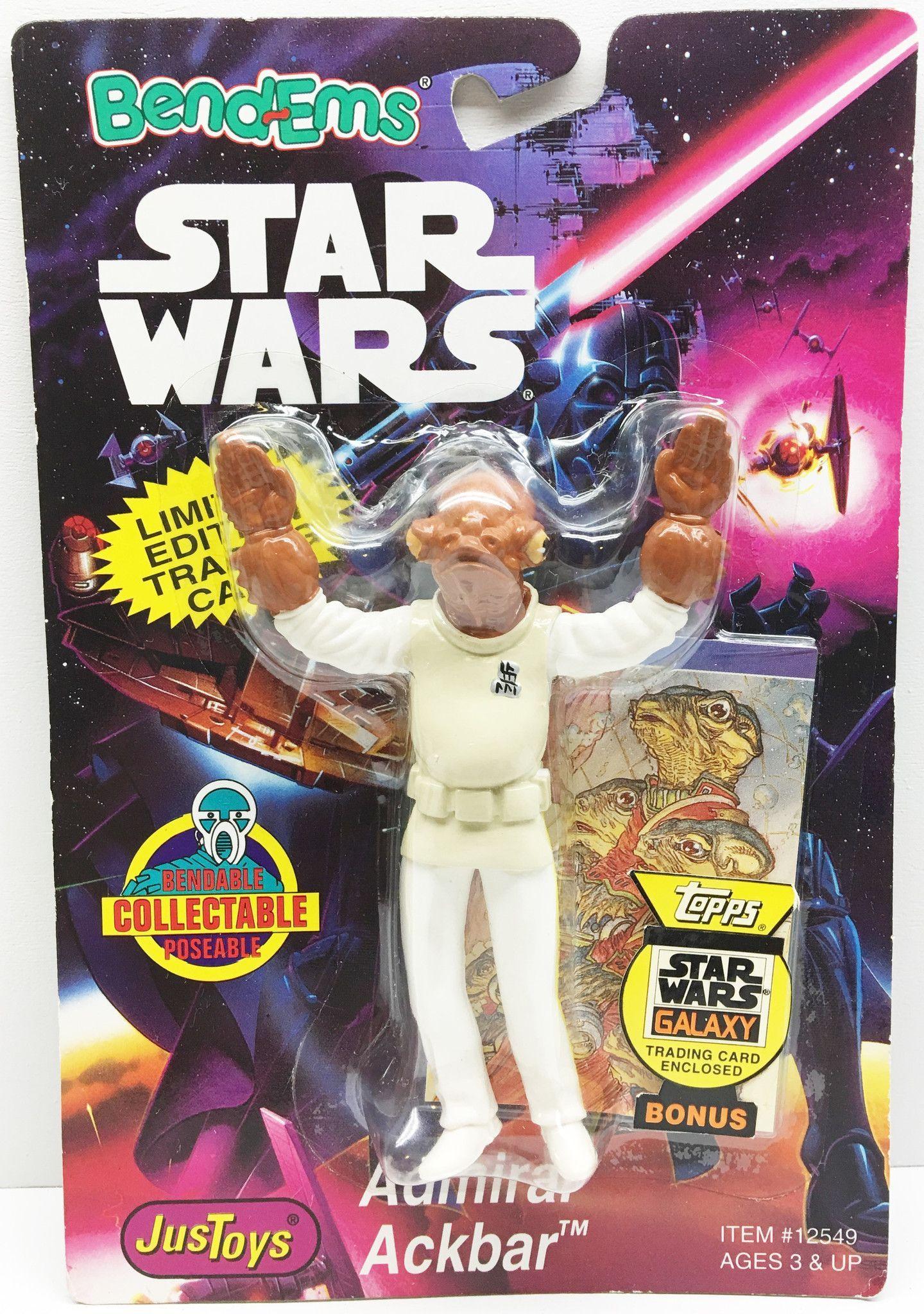 (TAS032992) - 1994 Just Toys Star Wars Bend-Ems Action Figure - Admiral Ackbar