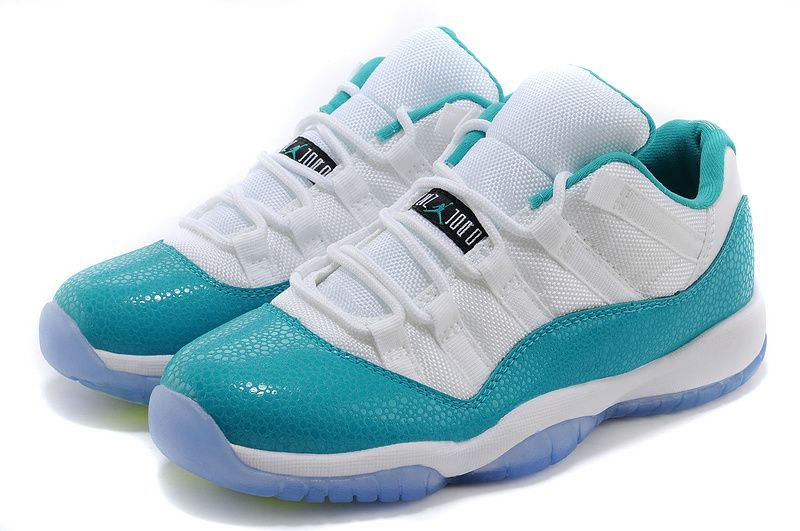 "da098a4cdf 2018 Air Jordan 11 Low ""Aqua"" White/Turbo Green-Volt Ice-Black 580521-143"