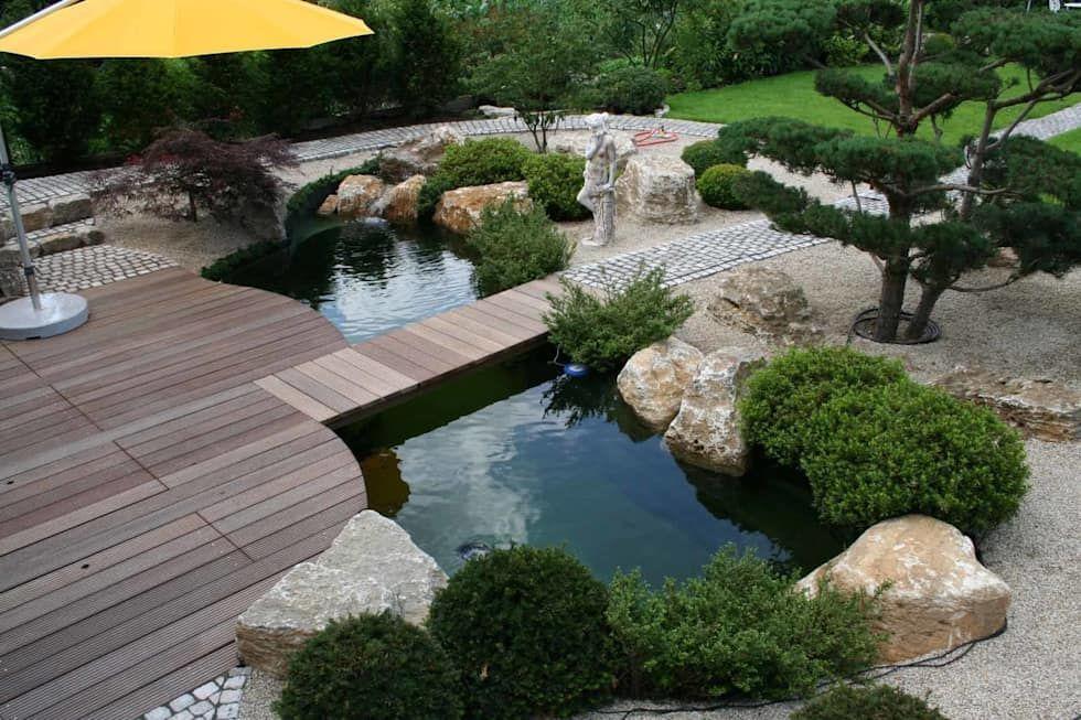 Piscinas de estilo de v s teich garten und design for Estanques japoneses jardin