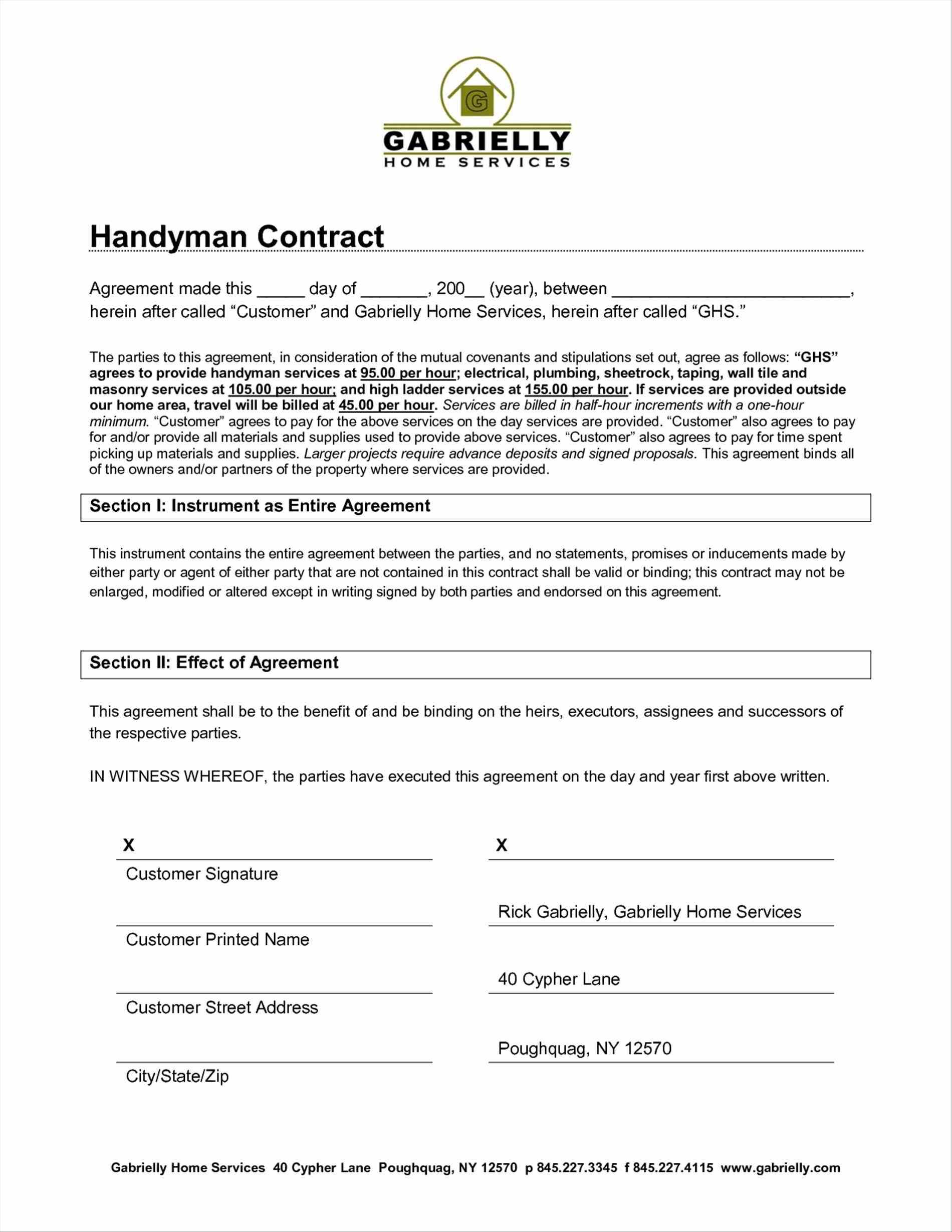 Free Service Contract Agreement Template Agreement Between Two