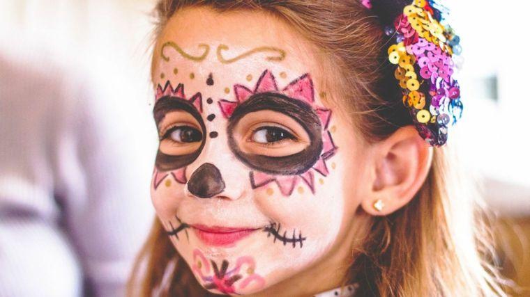 immagini-trucco-halloween-bambini-viso-truccato-base-bianca-occhi ... 7f6dad770fff