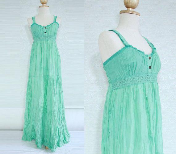 Mint Maxi Dress - Maternity Dress / Beach Wedding Dress / Women ...