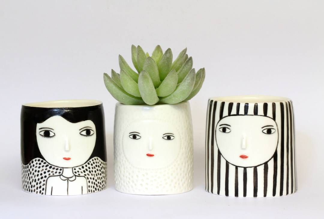 Kinskas ceramics celebrate the quirkiness of face pots pottery kinskas ceramics celebrate the quirkiness of face pots ceramic painting paper shopping bagpottery reviewsmspy