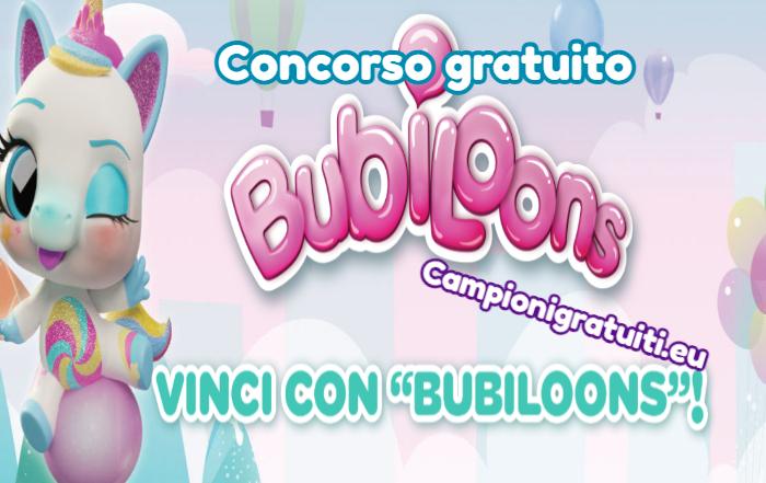 Concorso Bubiloons vinci Pupazzetto