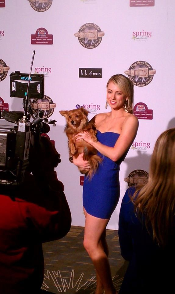 Me and my best friend at The Golden Collar Awards