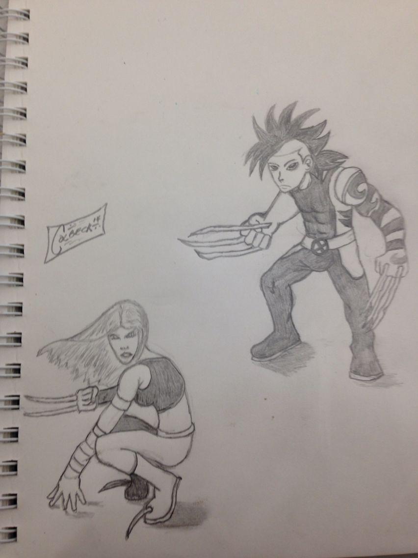 Daken & X-23 drawing