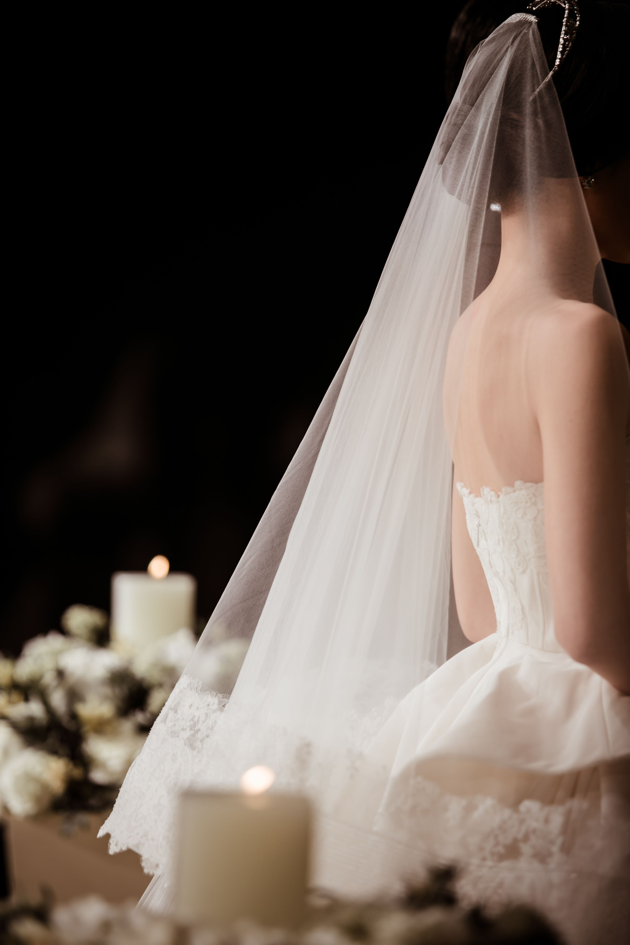 The bride wore oscar de la renta for her wedding in seoul korea
