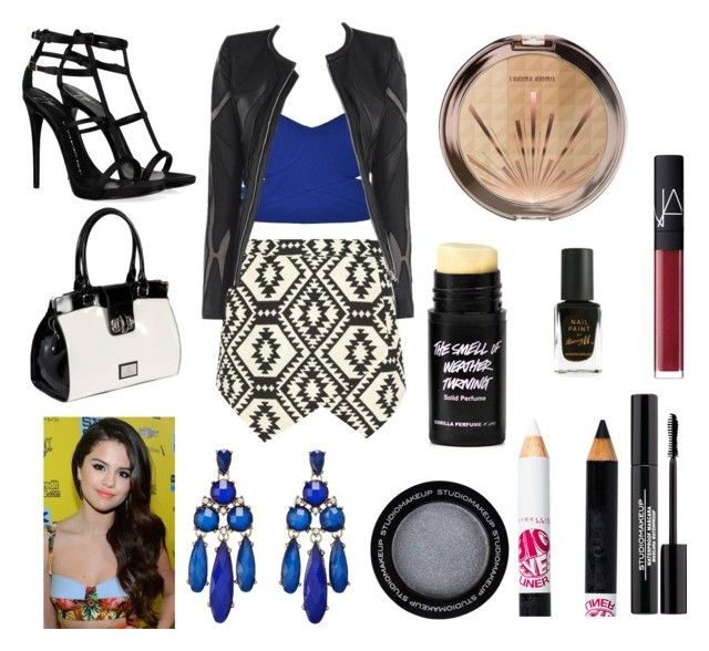 """Aztec outing"" by haley-310 ❤ liked on Polyvore featuring Ally Fashion, Allegra, Giuseppe Zanotti, Sparkling Sage, Maybelline, NARS Cosmetics and Barry M"