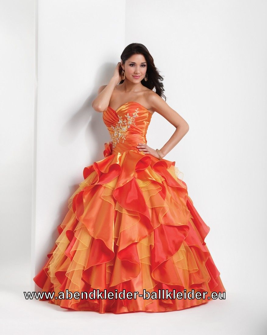 Fantastisch Orange Ballkleider 2014 Zeitgenössisch - Hochzeit Kleid ...