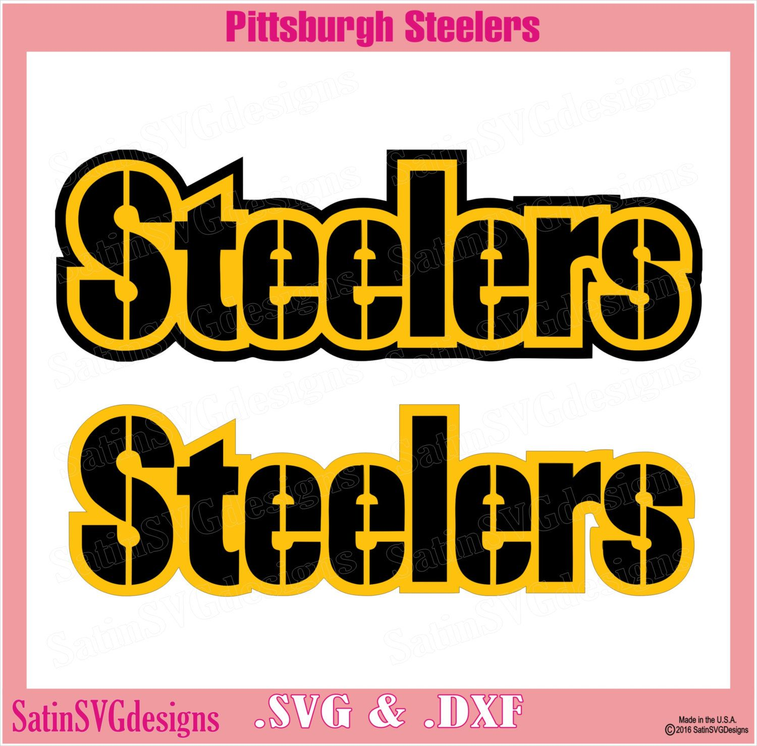 Pittsburgh Steelers Wordmark Design With Your Silhouette