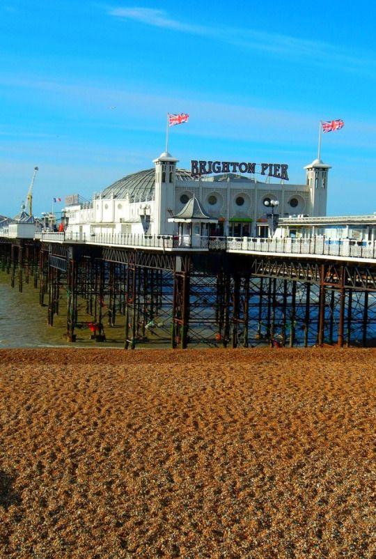 Brighton Pier a great English seaside resort town ...