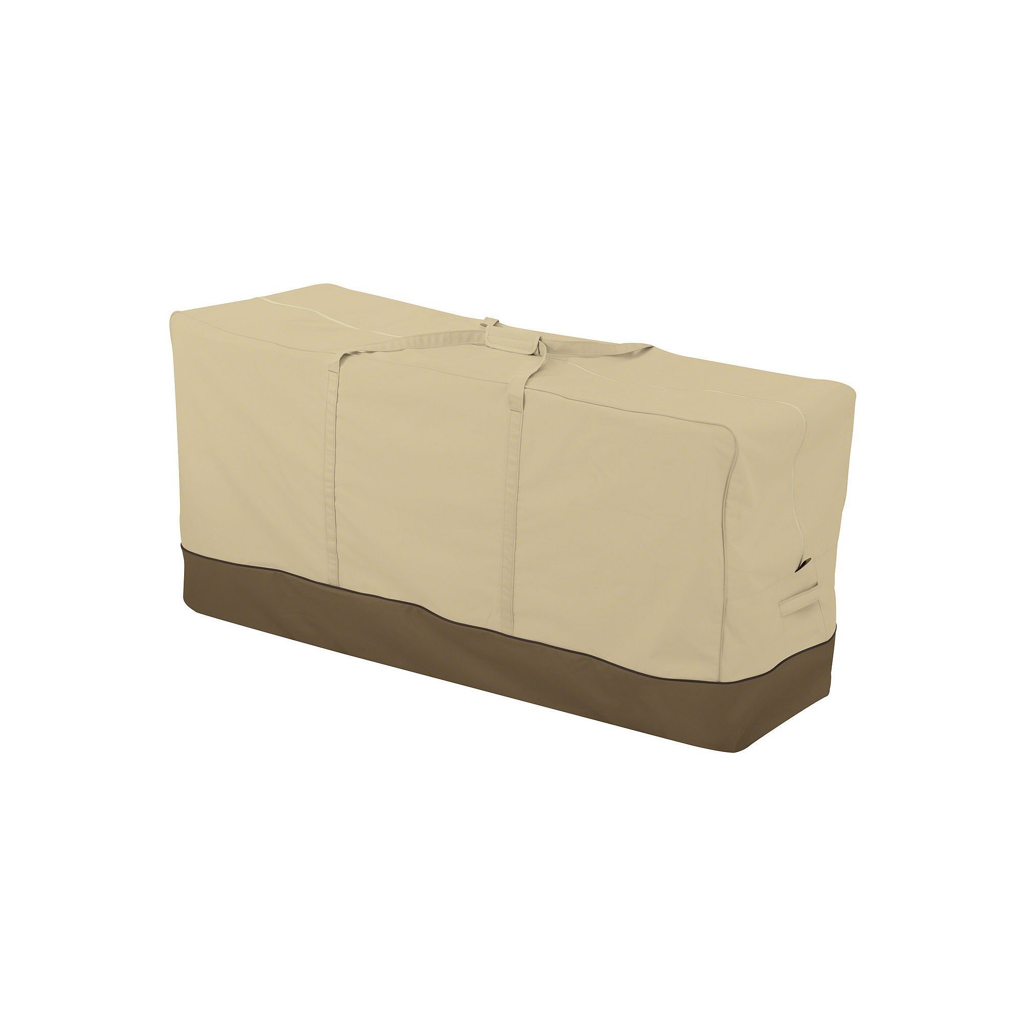 Wonderful Veranda Oversized Patio Cushion Storage Bag, Beig/Green (Beig/Khaki)