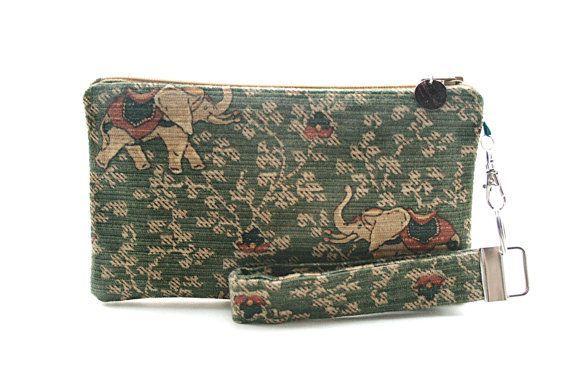 Indian elephant purse  boho clutch  womens handmade handbags  small purse  wristlet  boh Indian elephant purse  boho clutch  womens handmade handbags  small purse  wristl...
