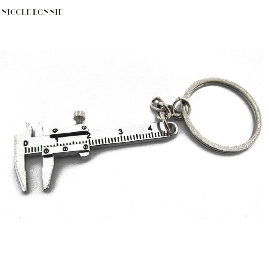 Naivety Metal Movable Vernier Caliper Ruler Model Keychain Keyring For Bag S61226 drop shipping