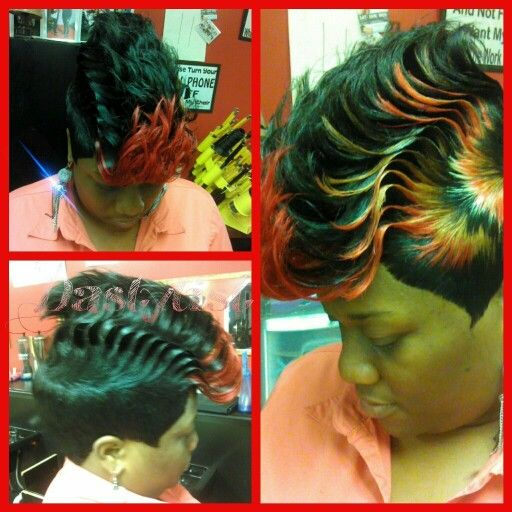 Creative flow #quickweave #27piecehairstyles
