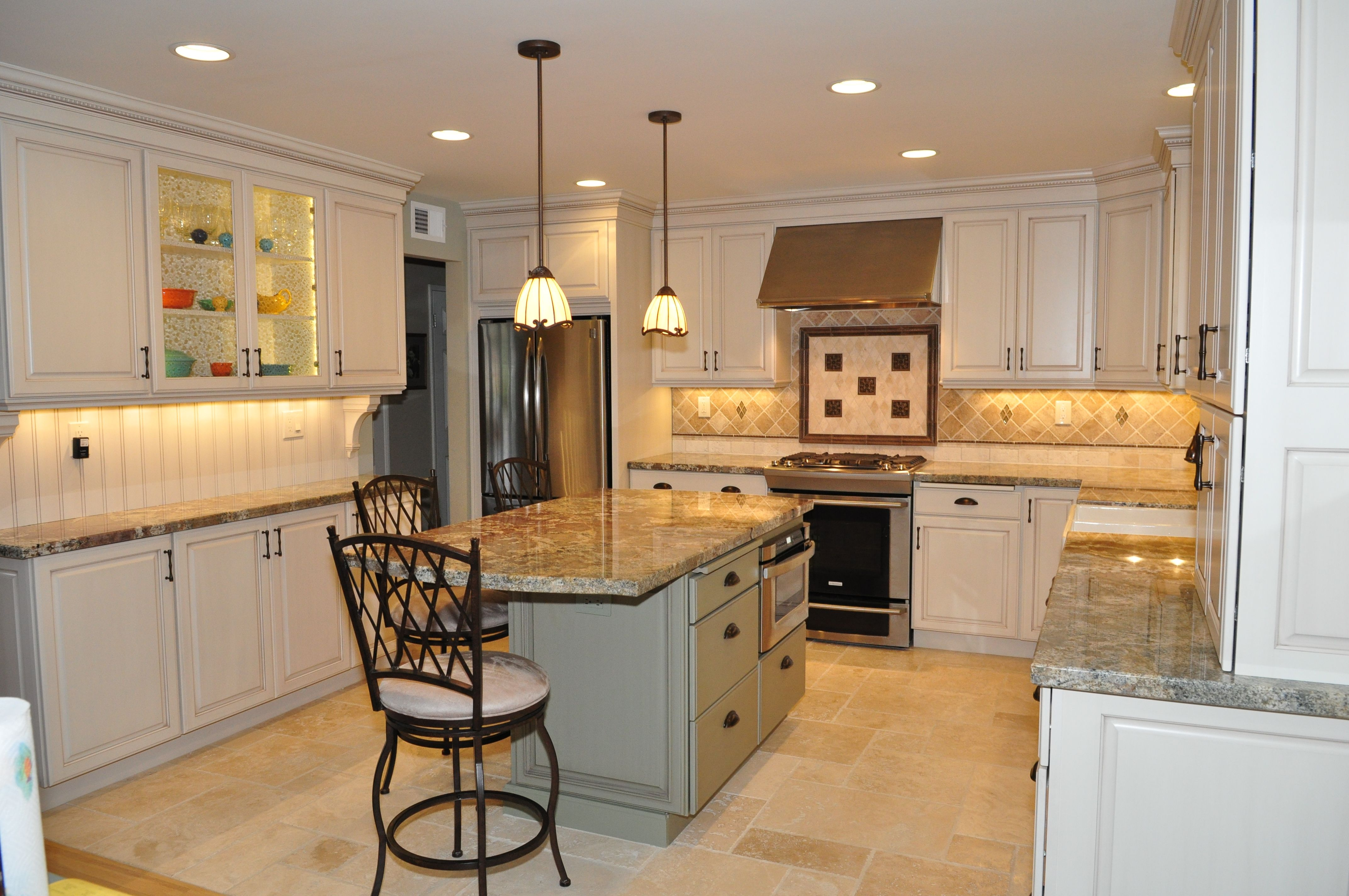Dynasty By Omega Cabinetry For The Perimeter Of The Kitchen In Brookside Square Door Style Maple With Opaque Wood In Oy Kitchen Design Kitchen Kitchen Remodel