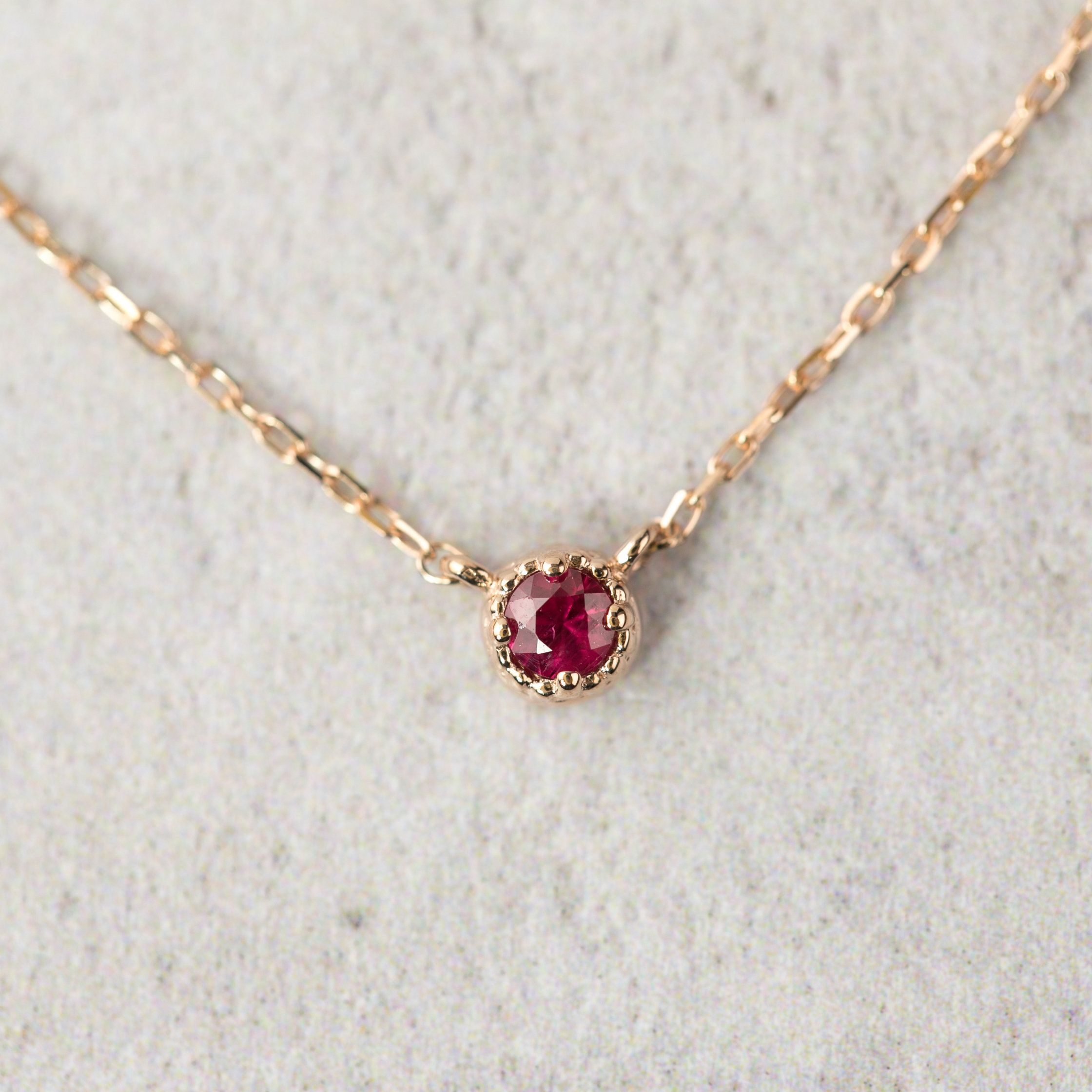 """Details about  /Real 14k yellow Gold Birth Stone July Charm Pendant Singapore Chain 18/"""" inch"""
