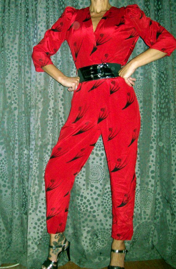 vintage 80s new wave glam jumpsuit by roxburysquare on. Black Bedroom Furniture Sets. Home Design Ideas