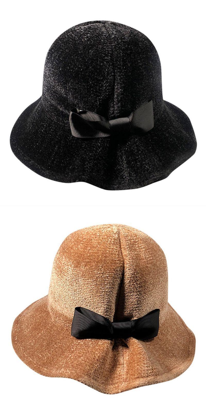 bdb5eec449405 Women winter keep warm hat fisherman bowknot caps ladies winter bow hat  fisherman hat winter hats