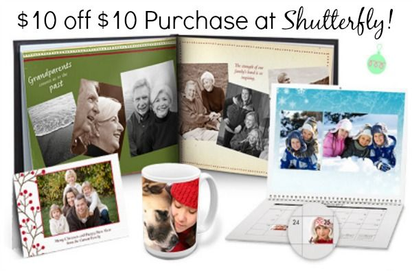 Ends Tonight! $10 off $10 Purchase at Shutterfly! Just Pay Shipping!