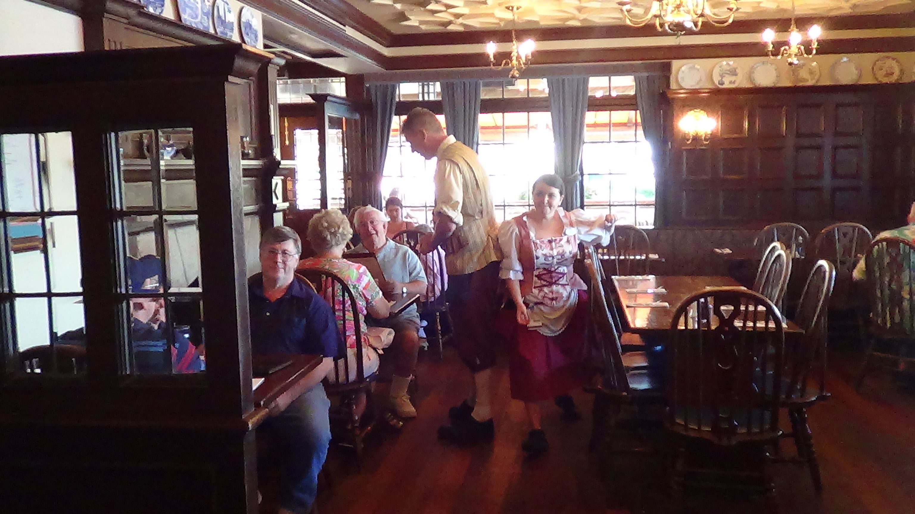 disneydining #epcot servers at the rose & crown pub & dining room