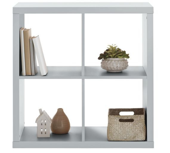 Buy hygena squares plus 4 cube storage unit white at - Storage units living room furniture ...