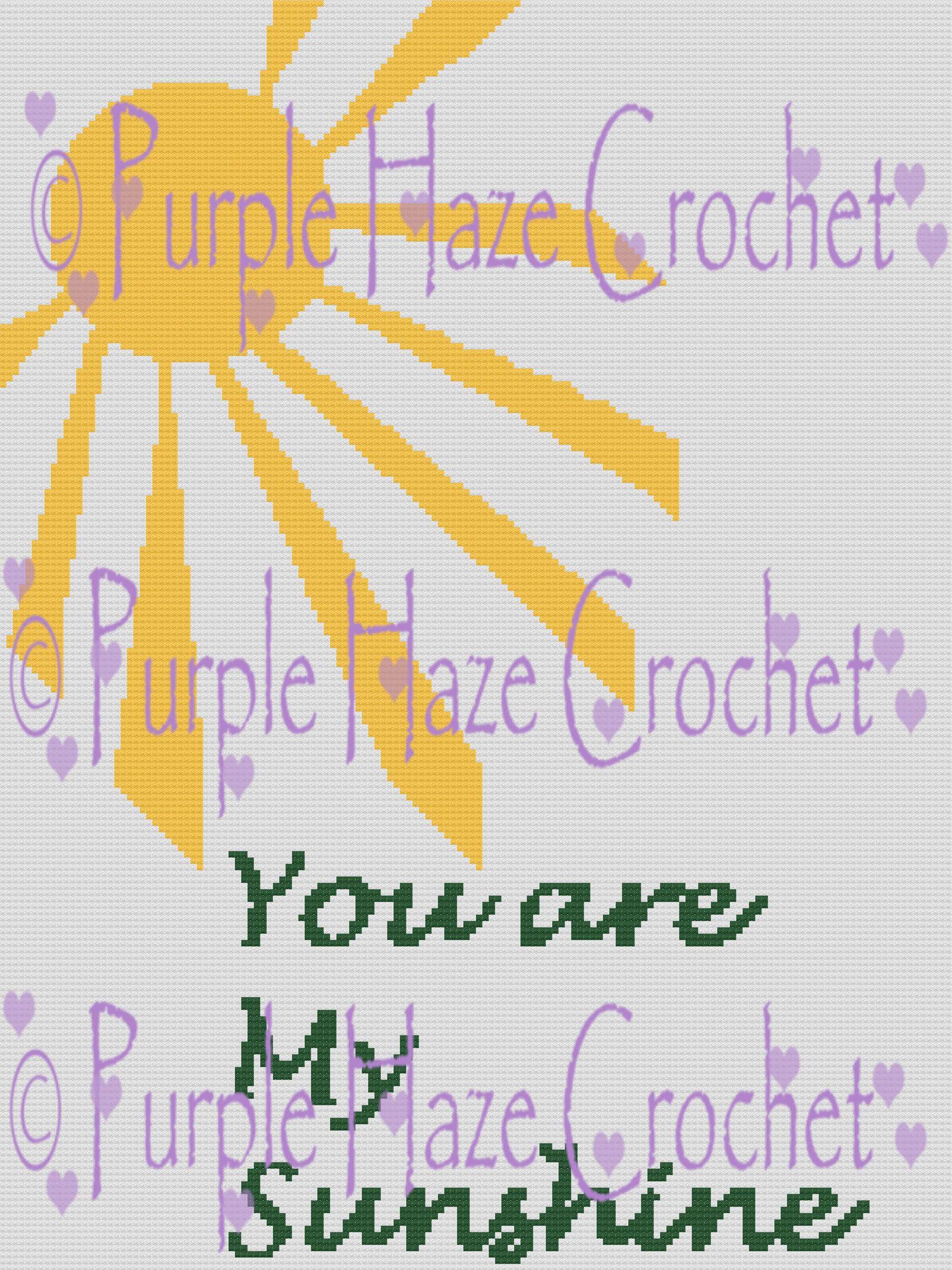 My Sunshine Graphghan Pattern by PurpleHazeCrochet on Etsy   crochet ...