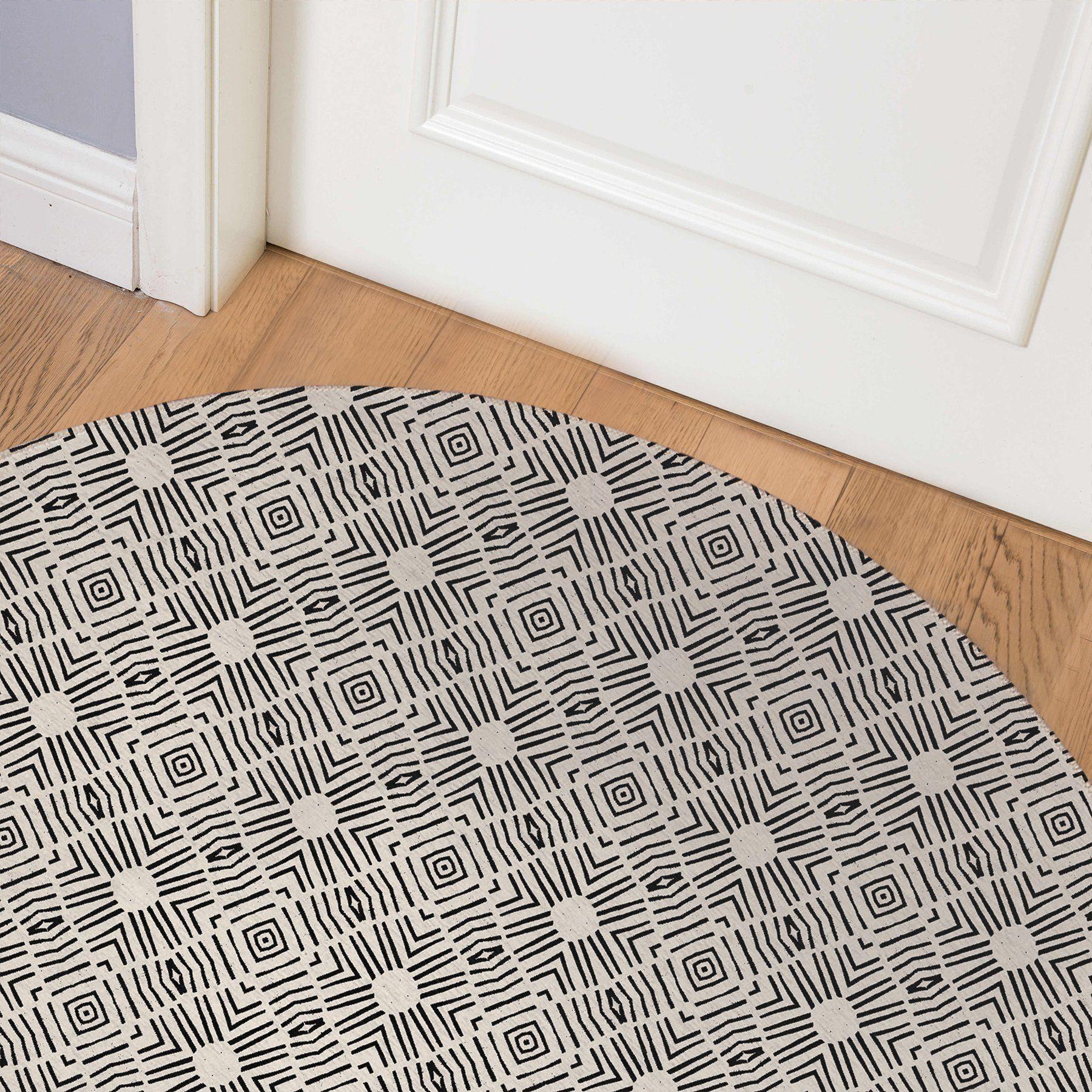 ADANA COLOR WAR Indoor Floor Mat By Michelle Parascandolo – Round 5ft x 5ft