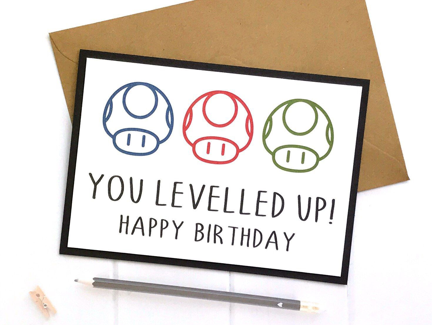 Excited To Share This Item From My Etsy Shop Gamer Cards Mario Birthday Card Mario Card Mari Bday Gifts For Him Diy Gifts For Him Thoughtful Gifts For Him