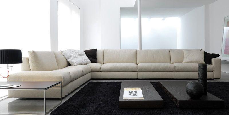 extra long white leather sofa zuhause