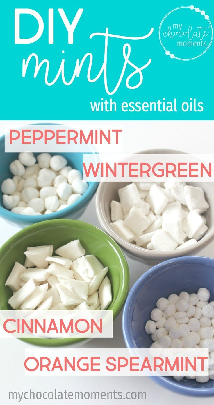 DIY mints with essential oils Mint Recipes, Candy Recipes, Stevia Recipes,  Healthy Recipes