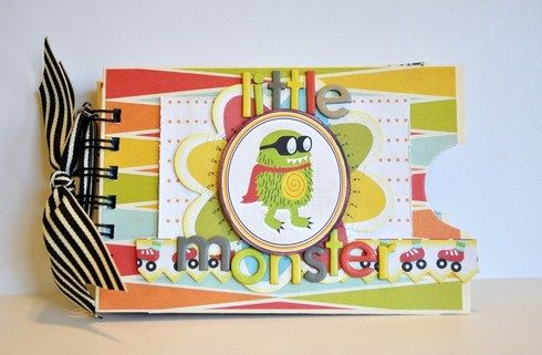 Lil Monster, mini book made with Bind-it-All by mrschez