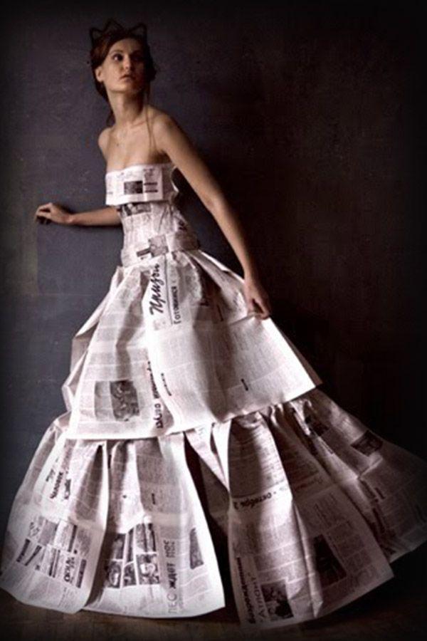 Vestidos de noche de reciclaje