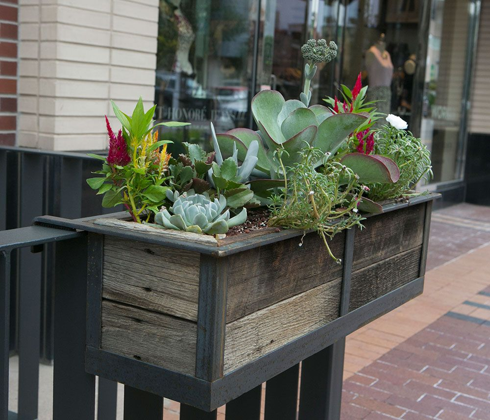 1000 Images About Garden Containers Deck Railing On: Modern Railing Planters - Custom By Rushton
