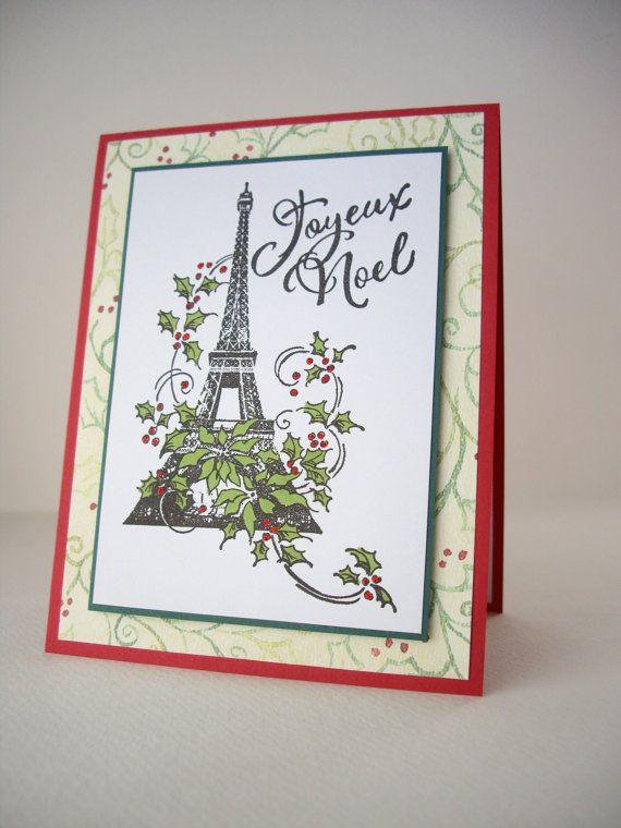 Eiffel tower christmas card joyeux noel card french christmas card handmade christmas card joyeux noel card french by jdoorecreations m4hsunfo