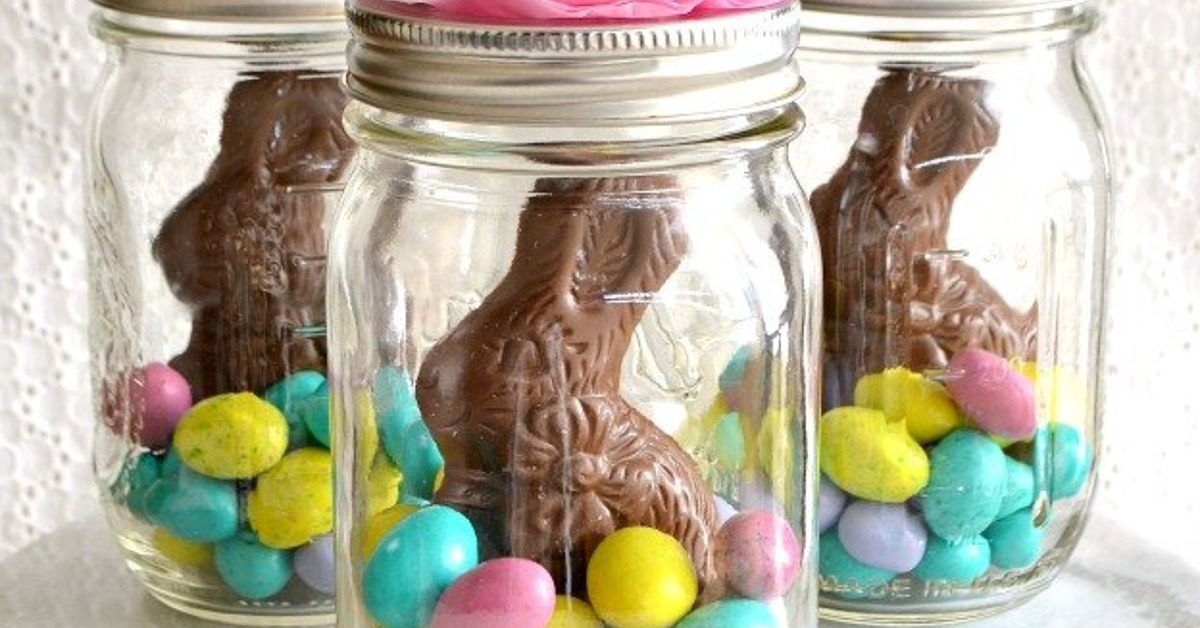 Celebrate easter with these adorable mason jar easter baskets they this will make your easter baskets look like martha stewart made themand all you need is 5 supplies negle Choice Image