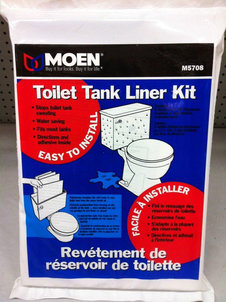 Details About Moen M5708 Toilet Tank Liner Kit 5 Pieces