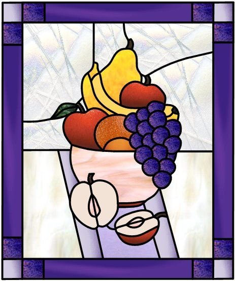 Bol De Fruit Partage Fruit Bowl By Manon Cayer Stained Glass Diy Stained Glass Patterns Stained Glass Ornaments