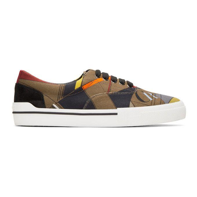 VERSACE Multicolor Printed Sneakers. #versace #shoes #