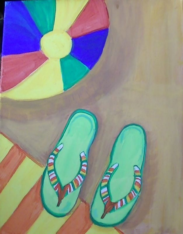 flip flop paintings on canvas - Google Search