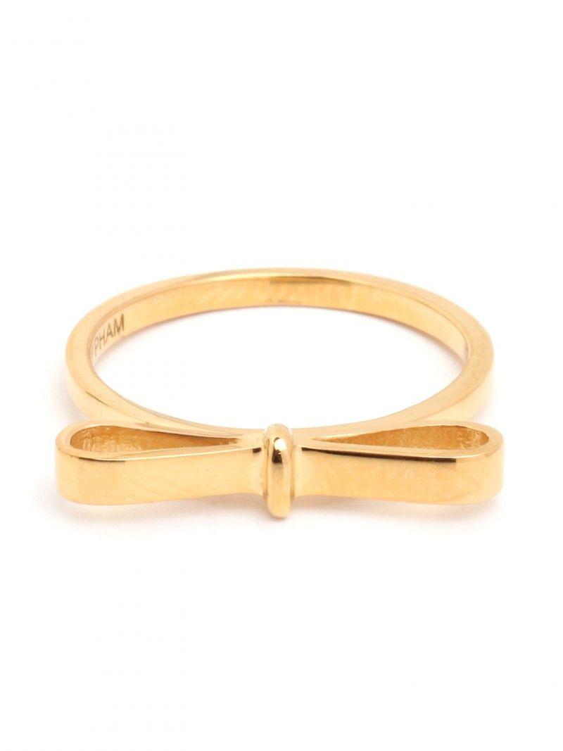 Ring Bow Il Gioiello Personalizzabile Con La Tua Nailart: Gold Bow Ring / Baublebar