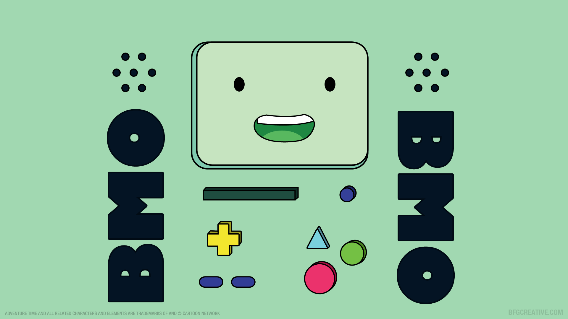 1920x1080 wallpaper of Beemo (BMO) from 'Adventure Time