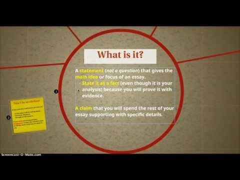 How to write a thesis statement for a masters