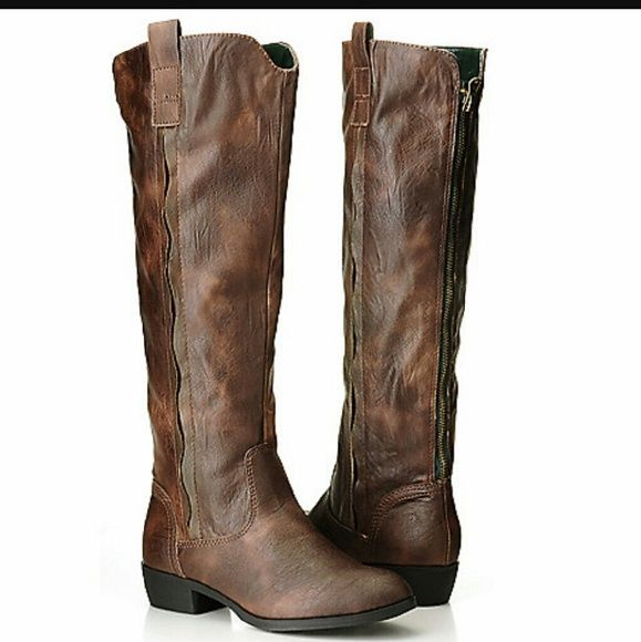 Mia Cavalry brown leather boots