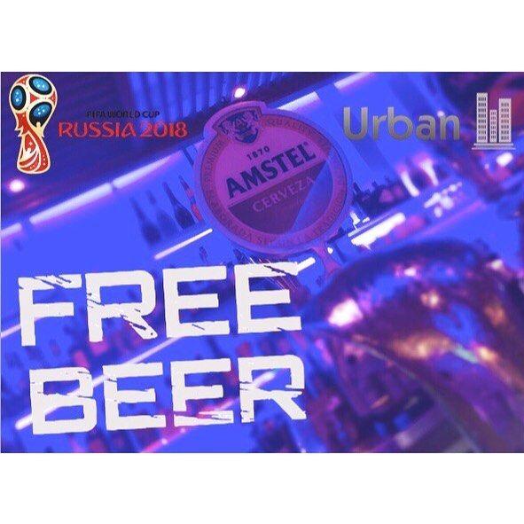 #FreeBeer at #UrbanBistroBar!!! Come and watch any game of the #WorldCup and your first beer in on us!  We will be showing all games of the World Cup and we are looking to share our love of #football with this awesome promotion.  Starting Thursday 14th of June!  #CervezaGratis en #UrbanBistroBar ! Ven a ver cualquier partido de la #CopaDelMundo con nosotros y te invitamos a una caña!  Mostraremos todos los partidos de la copa del mundo y estamos buscando compartir nuestro amor por el #fútbol con vosotros. A partir del Jueves 14 de Junio! Бесплатное пиво в Урбане!  Смотрите чемпионат мира с нами! И мы с удовольствием угостим Вас стаканчиком холодного пива!  Мы будем показывать все игры чемпионата мира и хотим разделить с Вами нашу страсть к футболу!  Начало в Четверг 14-го Июня.  #costadelsol #marbella #sanpedro #bar #billar #lounge #bistro #drink #eat #enjoy #placetobe