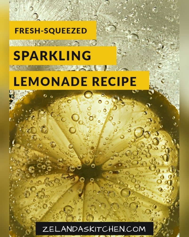 Fresh-Squeezed Sparkling Lemonade; A Delightful Carbonated Drink Perfect for Any Day and Any Occasion!
